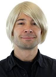 Coiffures tendances pour homme 2021. Perruque Pour Homme Blonde Mi Long Raie De Cote Gfw895 22 Amazon Fr Beaute Et Parfum