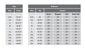 Gregory Size Chart Sizing