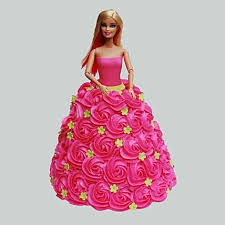 Pink Barbie Cake Chocolate 2kg Gift Barbie Birthday Cake 2kg
