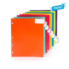 coolest office supplies. 3-Ring Tab Dividers In Multiple Colors: Set Of 8 - Cool Office Supplies Coolest