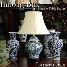 blue white lamp postage free service quantity limited classic oriental style pottery table lamps big and