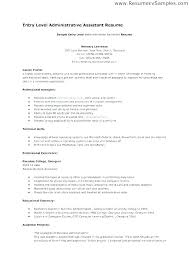 Entry Level Office Assistant Resumes Resume Examples Administrative Assistant Examples Of Cover Letters