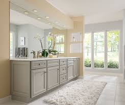 gray bathroom with white cabinets. grey rothshire cabinets in casual bathroom gray with white i
