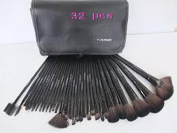 makeup black mac 32pcs brushes