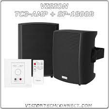 vision tc3 amp plus sp 1800b black speaker bundle