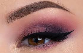 eye makeup for dark brown eyes 1 plum eyeshadow