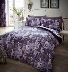 rural italy purple quilt cover