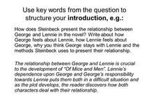 of mice and men relationship between george and lennie essay is of mice and men relationship between george and lennie essay