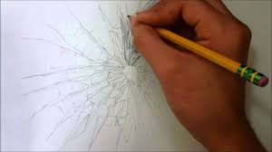 drawing broken glass