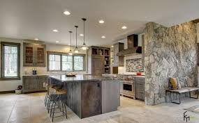 Small Picture Wonderful Grey Stone Wall Ideas For Chic Kitchen With Grey Rustic