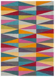 harlequin triangles rug 0