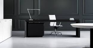 black office table. CEO Black Executive Office Desk Table