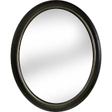 Bronze Mirror Bathroom Shop Allen Roth 24 In X 30 In Oil Rubbed Bronze Polished Oval