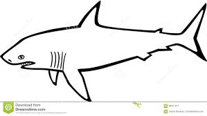 Shark Stock Vector Illustration Of Tail Beast Black