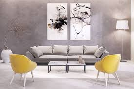 abstract matching set wall art floor lamp yellow armchair gray in newest matching wall art set on matching wall art pictures with explore photos of matching wall art set showing 5 of 15 photos