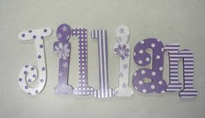 baby name wooden letters