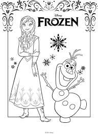 anna y olaf dibujo para colorear categorías frozen