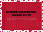 john f kennedy inaugural address 1961 summary