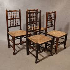 Antique Kitchen Dining Chairs Lancashire Spindle Back Quality Ash