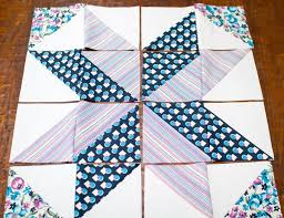 Stitches in Play: star block tutorial + triangle piecing trick &  Adamdwight.com