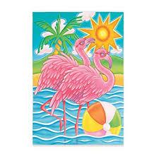 flamingo garden flags. Fine Garden Flourescent Flamingo Garden Flag Intended Flags I