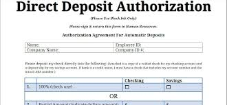 Direct Deposit Authorization Form Delectable Printable PDF Direct Deposit Authorization Form Printable Business