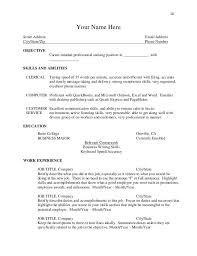 Typing Resume In Outlook You