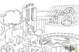zoo drawing. Simple Zoo How To Draw A Zoo  Step 10 On Drawing DrawingNow