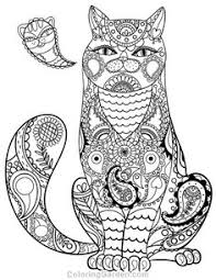 free printable paisley cat coloring page it in pdf format at