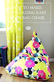 bean bags diy bean bag chair how to make an amazing easy bean bag chair