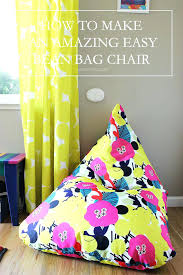 bean bags diy bean bag chair how to make an amazing easy bean bag chair