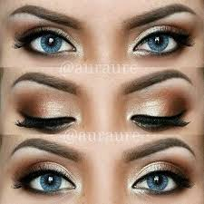 cute simple makeup ideas for blue eyes 6151