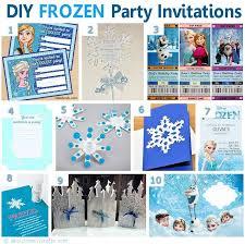 Homemade Frozen Birthday Invitations Diy Frozen Party Invitation