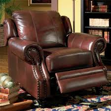 details about princeton traditional burdy genuine leather recliner reclining arm chair new