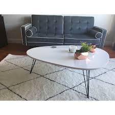 White modern coffee table Furniture Shop Safavieh Midcentury Wynton White Black Lacquer Modern Coffee Table On Sale Free Shipping Today Overstockcom 9048901 Overstockcom Shop Safavieh Midcentury Wynton White Black Lacquer Modern Coffee