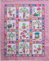 Fairy Tales PINK - by Kids Quilts - Quilt Pattern - $30.00 ... & Fairy Tales PINK - by Kids Quilts - Quilt Pattern - $30.00 : Fabric Patch, Adamdwight.com