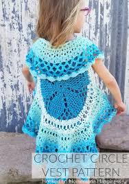 Crochet Circle Pattern Best Crochet Circle Vest Hooked On Homemade Happiness
