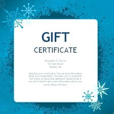 Gift Certificate Printable Free Sample Gift Certificate Template Pepino Co