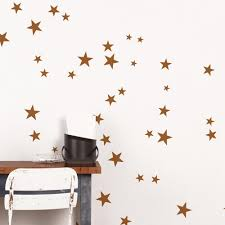 copper star kids wall decal 2 sheets