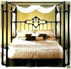 Iron Rod Furniture Iron Rod Bed Frame Strong Metal Canopy Bed Frame ...