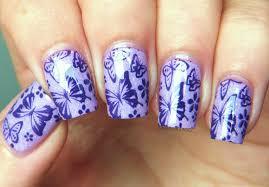 purple butterfly nail art | Trendy Mods.Com