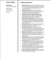 Contemporary Worship Leader Sample Resume Emr Trainer Sample