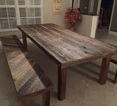 orlando rustic reclaimed wood dining table and benches