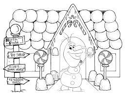 gingerbread house coloring sheet olaf gingerbread house in frozen christmas coloring pages coloring