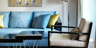 Lamps living room lighting ideas dunkleblaues Wohnzimmer Blue Sofa Light Blue Yellow Accents Decoration Top Blue Sofa 50 Interior Design Ideas With Sofa In Blue Which Are