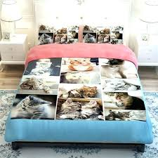 dog duvet covers for beds cute dog and cat print bedding set soft polyester fabric duvet