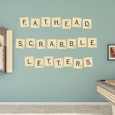 scrabble letters collection giant officially licensed hasbro removable wall decals fathead