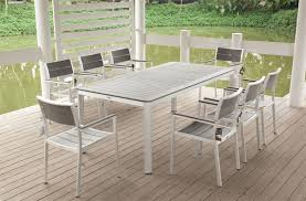 competitive modern aluminum outdoor furniture patio table white elegant sets