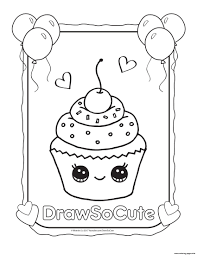 Draw So Cute Unicorn Coloring Pages
