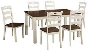 ashley furniture signature design woodanville dining room table set set of 7 dining